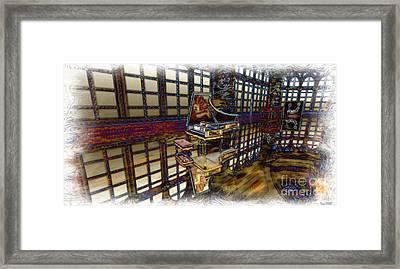 Framed Print featuring the digital art The Concertroom by Susanne Baumann