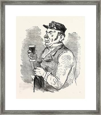 The Concierge Of The Roche-noire Castle Drinking Framed Print by French School