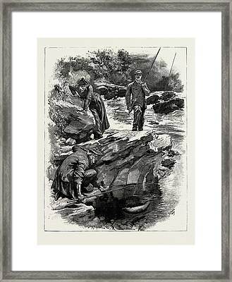 The Conclusion Of The Fight Proved To Be A Series Of Rapid Framed Print by Litz Collection