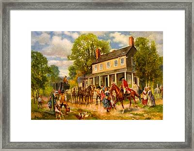 The Concord Stage Framed Print by Percy Moran