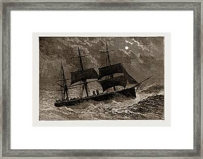 The Condemned Cruiser H.m.s. Bacchante In A Gale Framed Print by Litz Collection