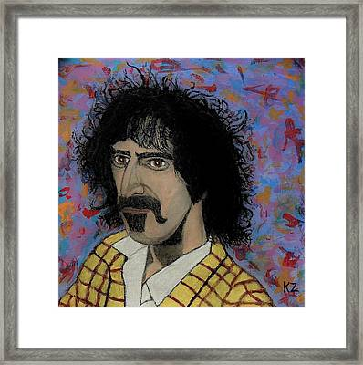 The Conductor Frank Zappa Framed Print by Ken Zabel