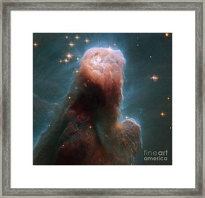 The Cone Nebula Framed Print by Science Source