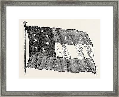 The Confederate Flag, United States Of America Framed Print by American School