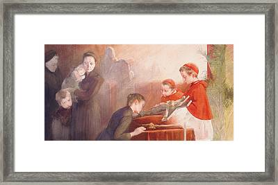 The Confirmation Framed Print by Henri Jules Jean Geoffroy