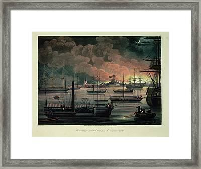 The Conflagration Of Dalla Framed Print by British Library