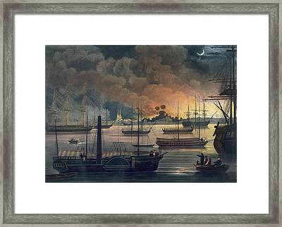 The Conflagration Of Dalla Framed Print by Joseph Moore