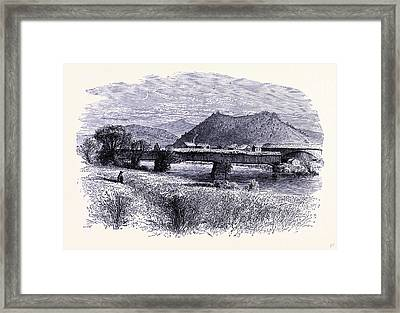 The Confluence Of The Connecticut River And The White River Framed Print