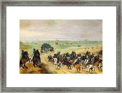 The Confrontation, 1600 Panel Pair Of 77048 Framed Print by Sebastian Vrancx