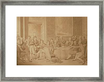 The Congress Of Vienna, 1815 Pencil & Wc See Also 217258 Framed Print by Jean-Baptiste Isabey