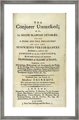 The Conjurer Unmasked (1785) Framed Print by British Library