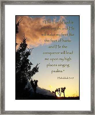 The Conquerer Framed Print