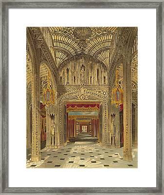 The Conservatory At Carlton House Framed Print by Charles Wild