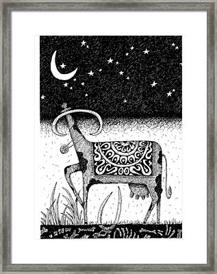 The Constellation Of A Cow Framed Print by Victor Koryagin