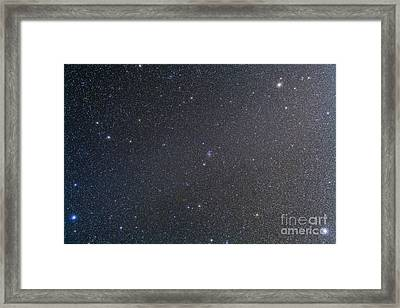 The Constellation Of Cancer With Nearby Framed Print by Alan Dyer