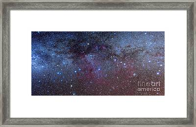 The Constellations Of Puppis And Vela Framed Print