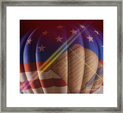The Constitution Framed Print by Janice Spivey