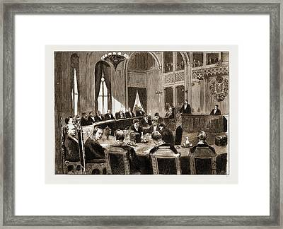 The Constitutional Crisis In Norway, 1883 View Of The Court Framed Print by Litz Collection