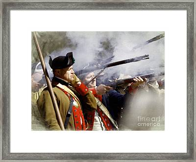 The Continental Line Framed Print