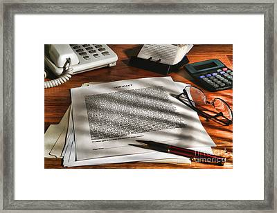 The Contract Framed Print