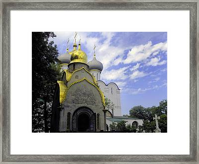 The Convent In Moscow - Russia Framed Print