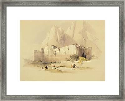 The Convent Of St. Catherine Framed Print by David Roberts