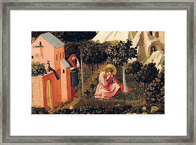 The Conversion Of Saint Augustine Framed Print by Fra Angelico