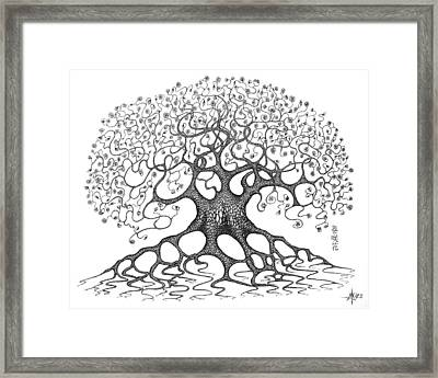 The Convoluted Flower Tree Framed Print