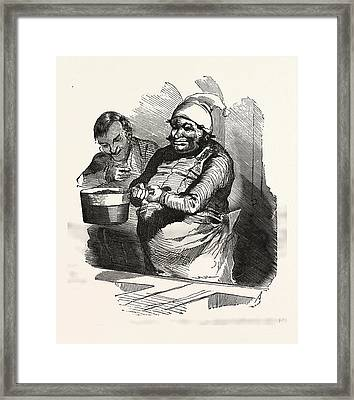 The Cook And His Pan, Europe Framed Print