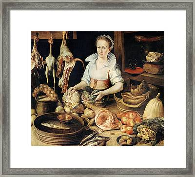 The Cook Framed Print by Pieter Cornelisz van Rijck