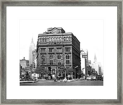 The Cooper Union Building Framed Print by Underwood & Underwood
