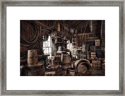 The Coopers Shop - 19th Century Workshop Framed Print