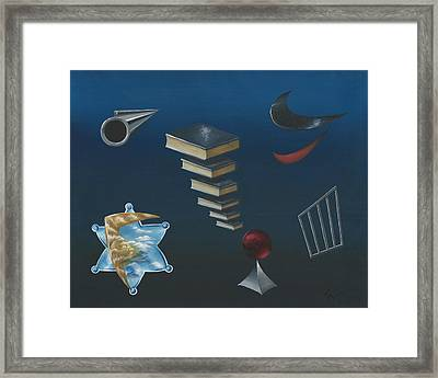 The Cop Framed Print by Gary Wahlbeck