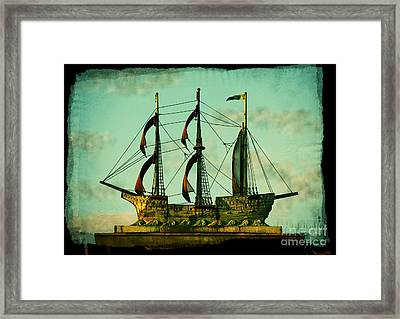 The Copper Ship Framed Print by Colleen Kammerer