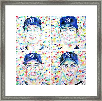 the CORE FOUR - watercolor portrait.1 Framed Print