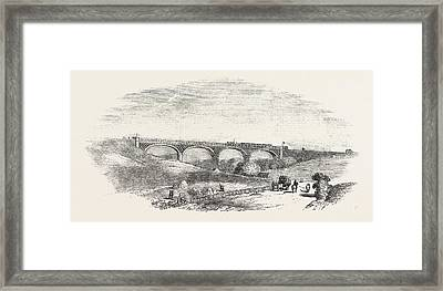 The Cork And Bandon Railway, The Chetwood Viaduct Framed Print by Irish School