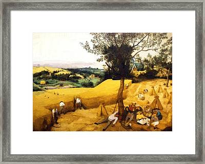 The Corn Harvest Digital Make Over Framed Print