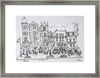 The Corner Of F And 9th Street Framed Print