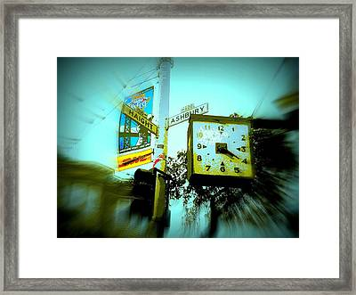 The Corner Of Haight And Ashbury Framed Print
