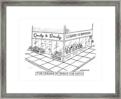 The Corner Of Ogden And Nash: Framed Print