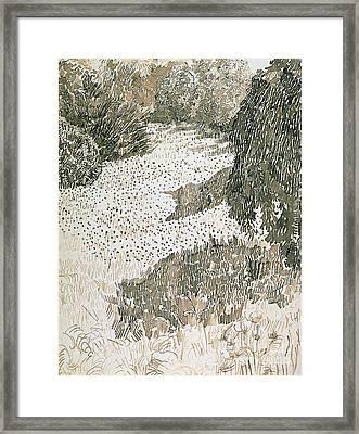 The Corner Of The Park Framed Print