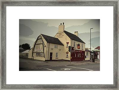 The Corner Pin Public House In, The Gable-end Visible Here Framed Print