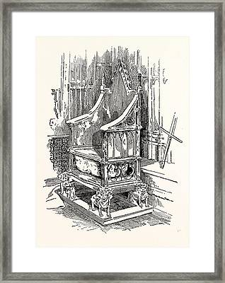 The Coronation Chair And Stone Of Destiny Westminster Abbey Framed Print