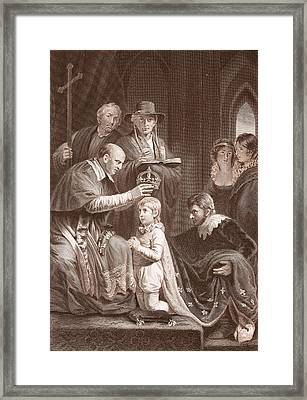 The Coronation Of Henry Vi, Engraved Framed Print by John Opie
