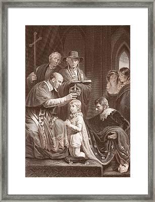 The Coronation Of Henry Vi, Engraved Framed Print
