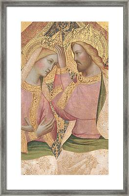 The Coronation Of The Virgin Framed Print by Agnolo Gaddi