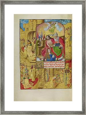 The Coronation Of The Virgin Master Of The Lübeck Bible Framed Print