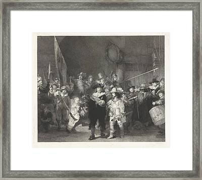 The Corporal Company Of Captain Frans Banninck Cocq Framed Print