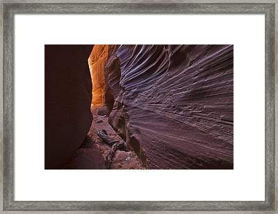 The Corridor Of Light Framed Print by Kenan Sipilovic