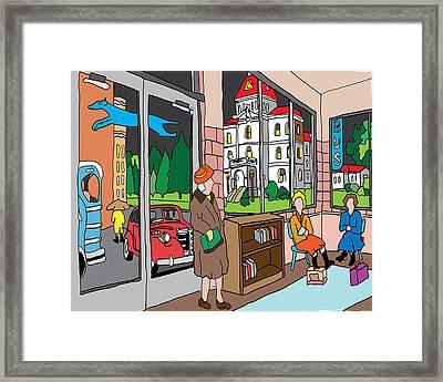 The Corvallis Greyhound Station Framed Print